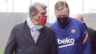 Presiden Barcelona, Joan Laporta dan Ronald Koeman