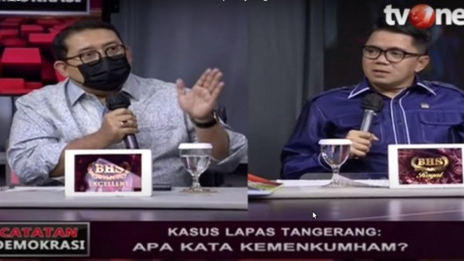 Fadli Zon debat dengan politikus PDIP Arteria Dahlan