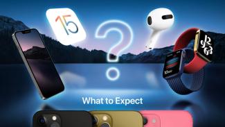 Jajaran iPhone 13, Apple Watch, dan AirPod.