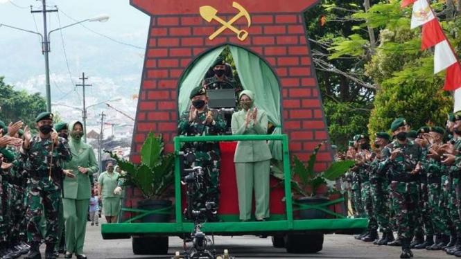 Pangkostrad Letjen TNI Dudung Abdurachman mengunjungi Batalyon Zipur 9 Kostrad