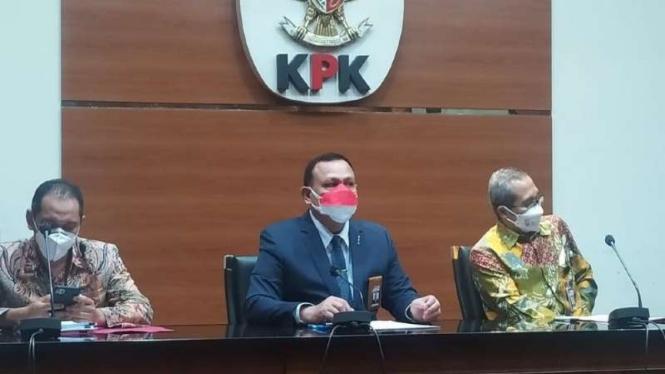 Konferensi pers KPK soal pemberhentian Novel Baswedan Cs