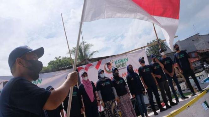 Relawan mendeklarasikan dukungan kepada Sandiaga Uno jadi capres 2024