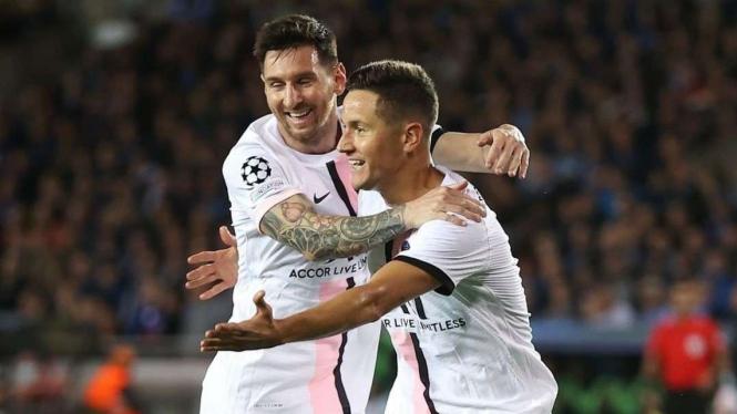 Lionel Messi dan Ander Herrera
