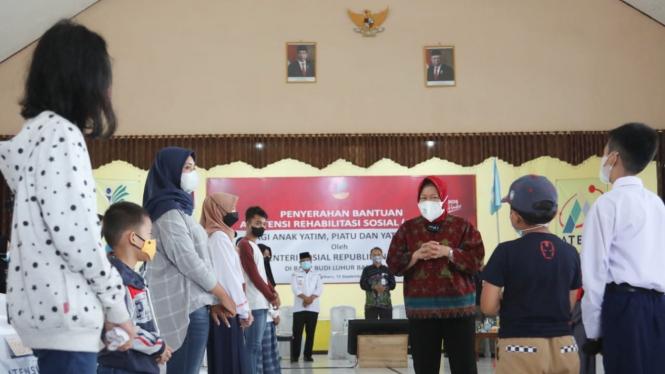 Mensos Risma melakukan peninjauan SKA Budi Luhur di Kota Banjarbaru.