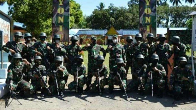 VIVA Militer: Satgas Pamtas Yonif 123/Rajawali