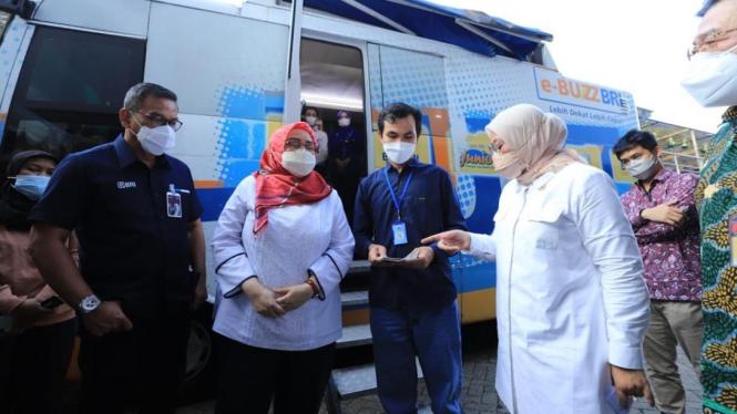 Kunjungan kerja BRI bersama Menteri Ketenagakerjaan RI Ida Fauziyah di Banten