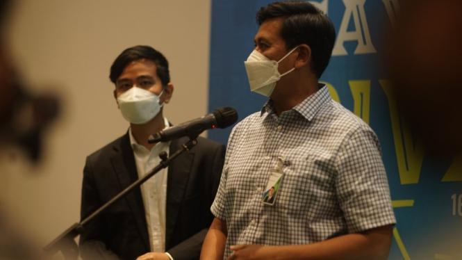 Dirut BPJAMSOSTEK Anggoro dan Wali Kota Surakarta Gibran Rakabuming