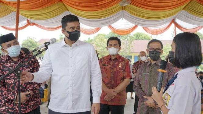 Wali Kota Medan Bobby Nasution tanya jawab dengan pelajar