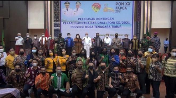 Pelepasan kontingen NTT ke PON XX Papua