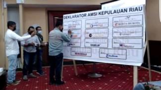Konferensi Wilayah I AMSI Kepulauan Riau, Sabtu, 19 September 2021.