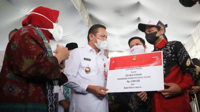 Mensos Risma saat di Balai Budi Luhur Banjarbaru.