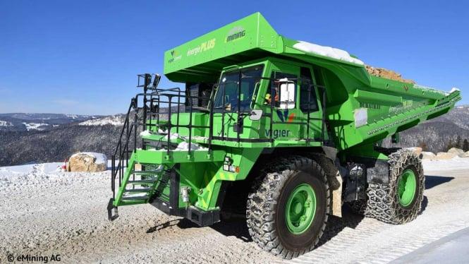 Ilustrasi truk tambang