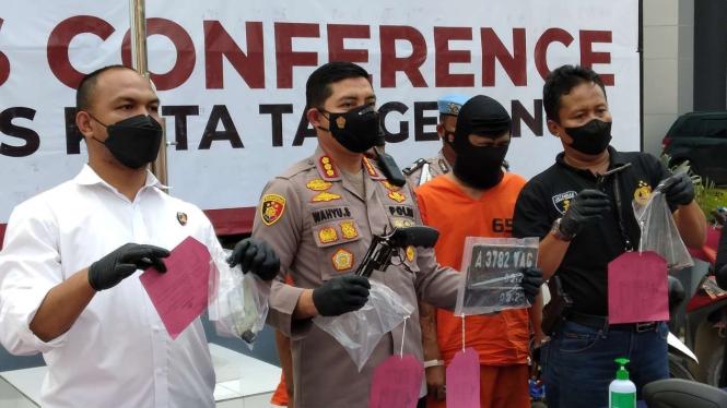 Polres Kota Tangerang menangkap pelaku pencurian motor.