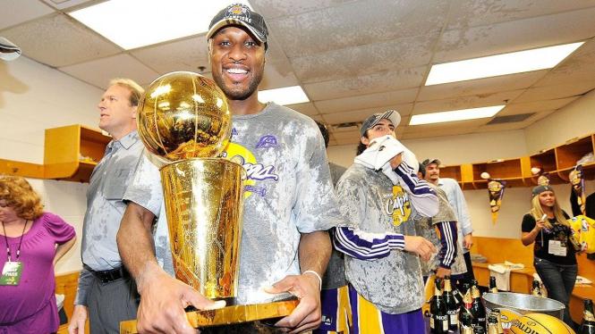 Mantan pemain LA Lakers, Lamar Odom