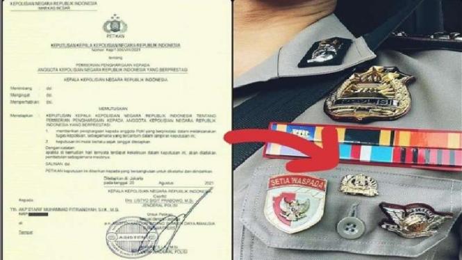 AKP Syarif asisten ajudan Jokowi dapat pin emas dari Kapolri