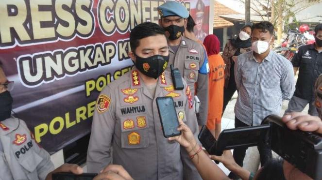 Kapolres Tangerang Kombes Pol Wahyu Sri Bintoro, Selasa, 21 September 2021.