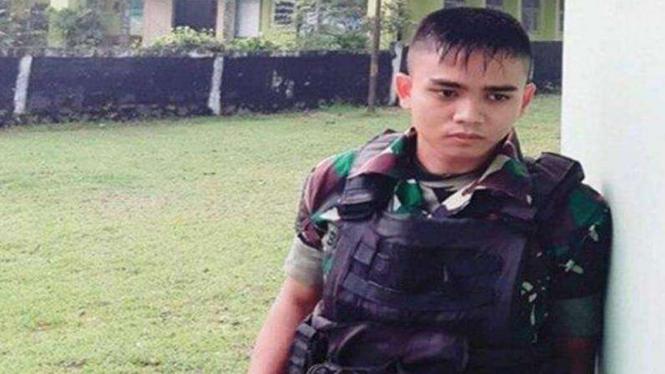 VIVA Militer: Mendiang Pratu Ida Bagus S, anggota Satgas Pamtas Yonif 403/WP