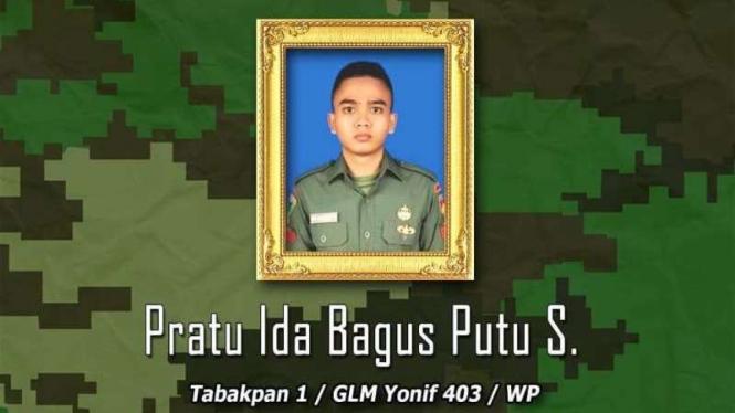 VIVA Militer: Almarum Prajurit Satu (Pratu) Ida Bagus Putu S