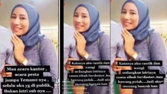 Viral Video Pelakor Sindir Istri Sah (Instagram/komentatorpedas)