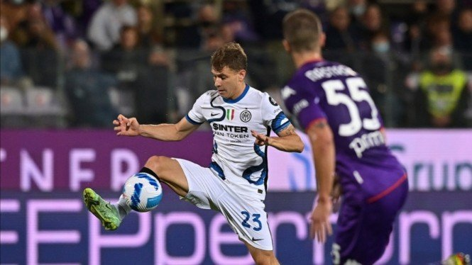 Pertandingan Fiorentina vs Inter Milan di Serie A.