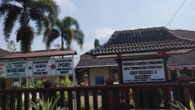 SMPN 3 Mrebet, Kabupaten Purbalingga, Jawa Tengah.