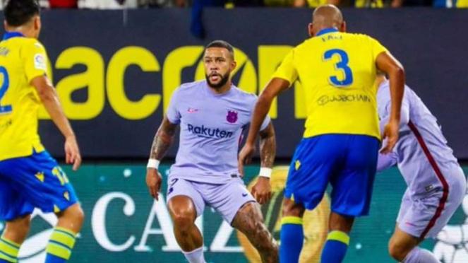 Duel Cadiz vs Barcelona.