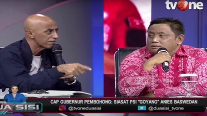 Geisz Chalifah debat dengan Jubir PSI Nanang Priyo Utomo