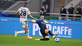 Pertandingan antara Inter Milan vs Atalanta dalam lanjutan Serie A 2021/2022.