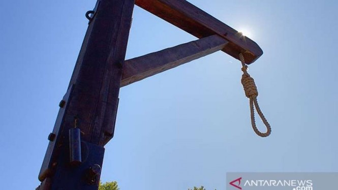 Ilustrasi tiang gantungan untuk hukuman mati