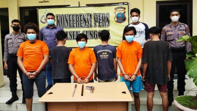 6 Anggota Geng Motor di Medan Ditangkap