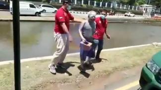 Viral Pensiunan Polisi Terciduk Satpol PP (Instagram/lintas.patroli)