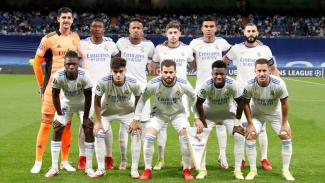 Skuad Real Madrid saat menghadapi Sheriff Tiraspol