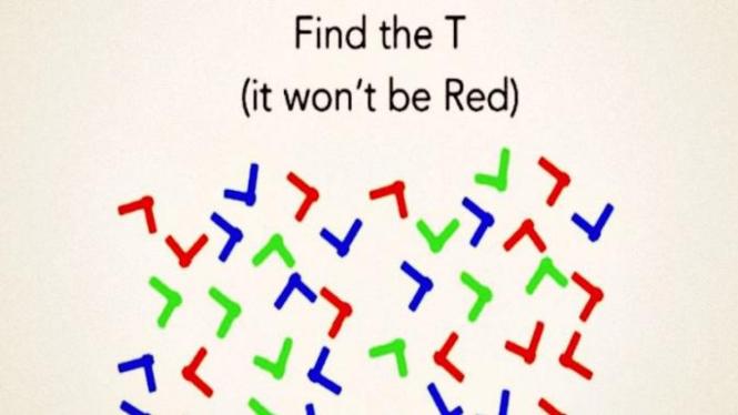 Temukan huruf T.