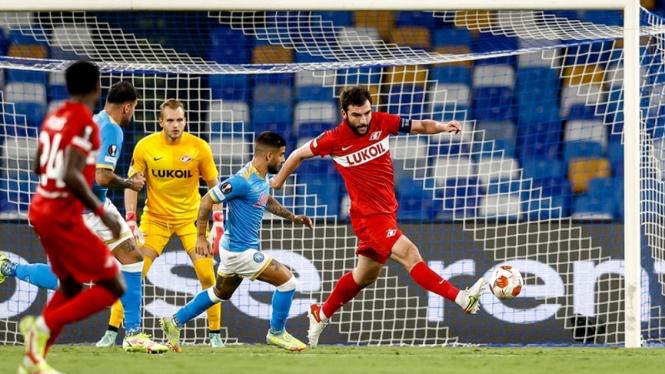 Pertandingan Napoli vs Spartak Moscow