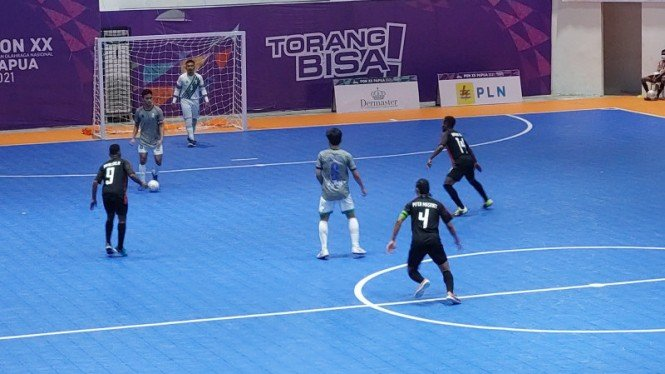 Tim Papua kalahkan Tim Jawatim di semifinal futsal PON Papua