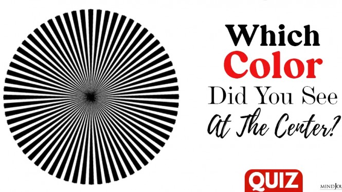 Quiz uji pengelihatan, warna pertama apa yang dilihat dari lingkaran tersebut