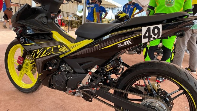 Motor Yamaha yang ikut dalam cabor balap di PON XX Papua.