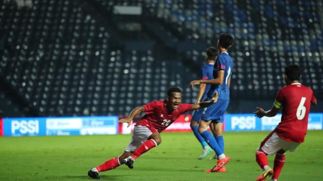 Ramai Rumakiek mencetak gol untuk Timnas Indonesia