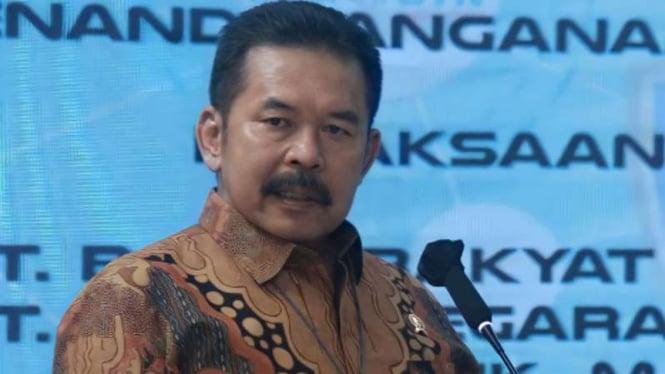 Jaksa Agung ST Burhanuddin dalam acara penandatanganan nota kesepahaman.