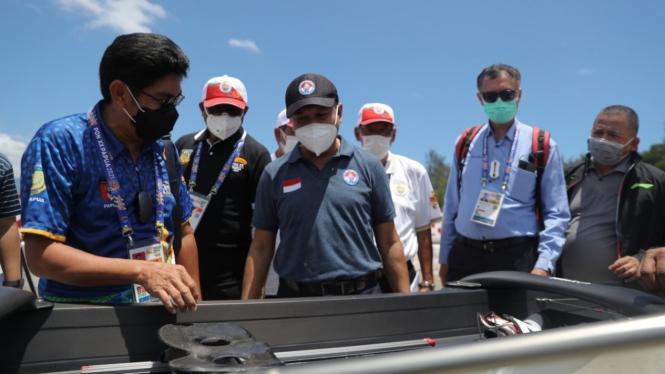 Menpora meninjau venue dayung di PON XX Papua