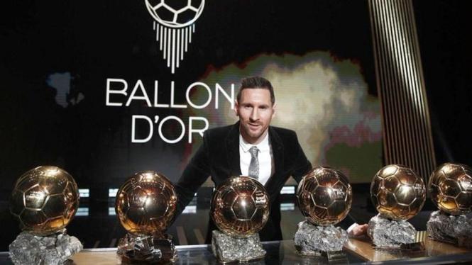 Lionel Messi sudah raih enam ballon d'or