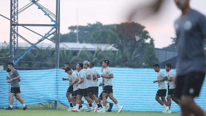 Pemain Timnas Indonesia jalani latihan jelang lawan Taiwan