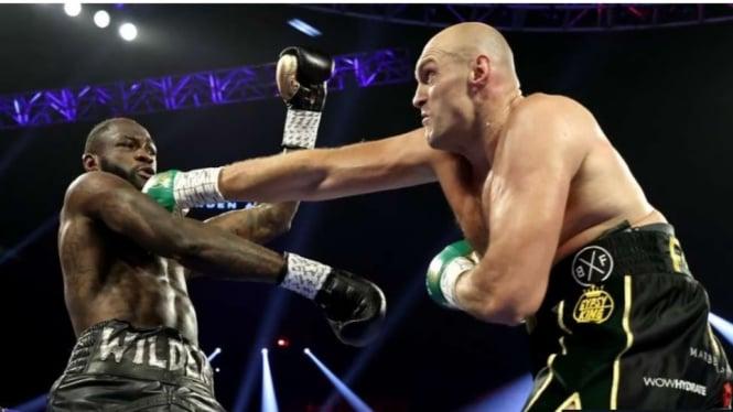 Pertarungan tinju antara Tyson Fury vs Deontay Wilder