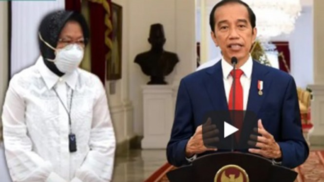 Mensos RI, Tri Rismaharini dan Presiden Joko Widodo