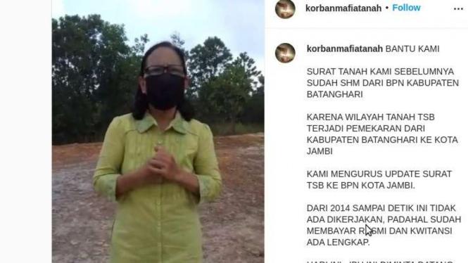 Heboh video dugaan korban mafia tanah