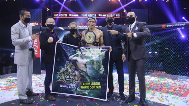 Laode Abdul Haris raih sabut Interim kelas Featherweight One Pride MMA