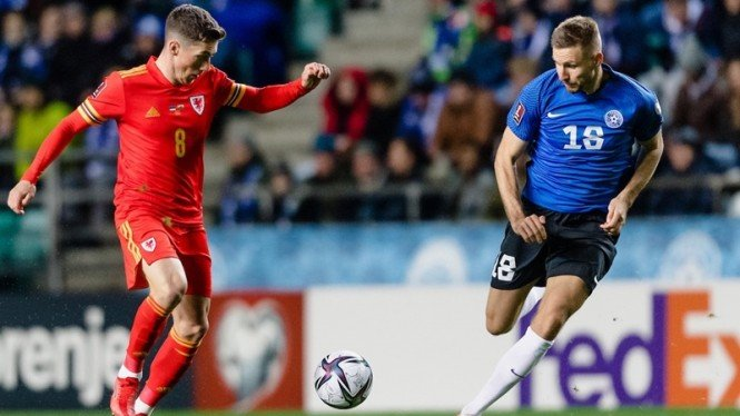 Pertandingan Timnas Wales melawan Estonia di Kualifikasi Piala Dunia 2022
