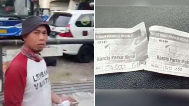 Viral biaya parkir Rp150 ribu