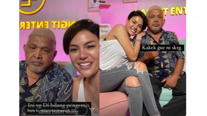 Nikita Mirzani temui kakek yang viral dimarahi Baim Wong.