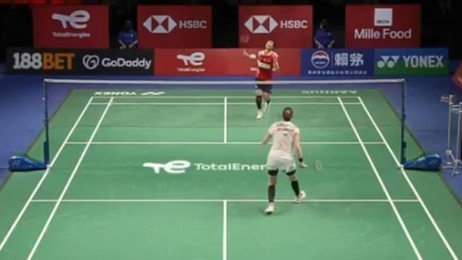 China melawan Denmark di Piala Uber